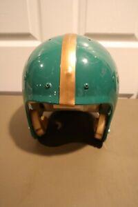 Vintage 7 1/8 - 7 1/4 Wilson F2002 FULL SIZE FOOTBALL HELMET NFL Green & Gold