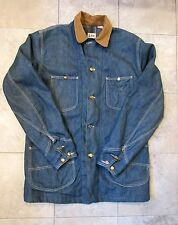 Vtg 60's Lee Sanforized Blanket Lined Denim Railroad Train Coat Jacket Usa Sz L