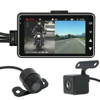 "Motorcycle Car 3"" LCD Action Dual Camera Dash Cam Video Camcorder Recorder Mic"
