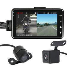 "Motorcycle Car 3"" LCD Action Dual Camera Dash Cam Video Camcorder Recorder Mic"