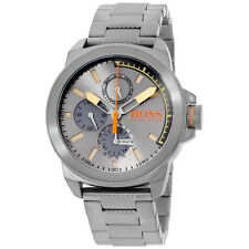 Hugo Boss Orange Mens Newyork Grey IP Steel 1513319 Watch