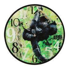 Animal Planet Photographic Glass Wall Clock Chimpanzee 30cm AP132