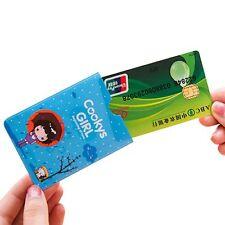 3PCs Girl Pattern Cases Double Side Holder Card Bag Wallet