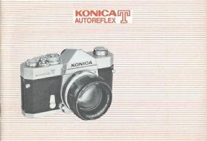 Konica Autoreflex T Instruction Manual Original