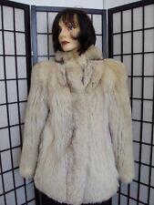 !MIINT SAGA NORWEGIAN BLUE FOX FUR JACKET COAT WOMAN WOMEN SIZE 2-4 PETITE