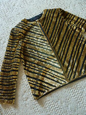 Spenser Jeremy Black Silk Heavily Sequined Jacket S