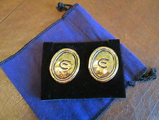"ELIZABETH TAYLOR COLLECTION for Avon ""GOLD COAST EARRINGS""*NOB*1 1/2""LONG *RARE*"