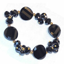 Faceted glass bead bracelet Select color B42