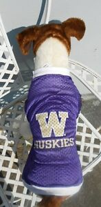 """""""W""""  HUSKIES MESH PET DOG  JERSEY (LICENSED, PROUDLY MADE IN THE USA)"""