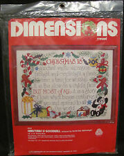 Dimensions Crewel Christmas Is Goodwill Terrie Lee Steinmeyer 8004 Wool Holiday