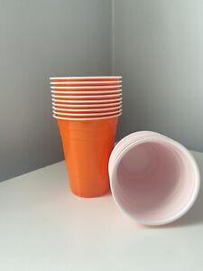 Halloween Orange American 16oz Beer Pong Party Plastic Cups