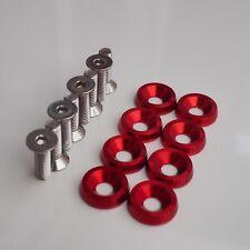Rouge 16 Pièces M6 x 20 (10 mm) Moteur BAY/Fender Dress up Rondelles & Boulons