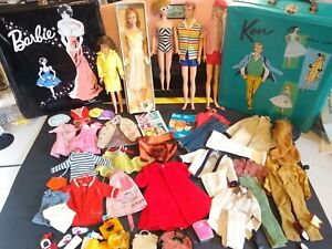 Vintage Barbie, Midge & Box,  Skipper, Ken,Allen, Cases Clothes Accessories