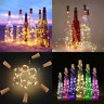 15/20Led Cork Shaped LED Night Light Starry Light Wine Bottle Lamp Party viv