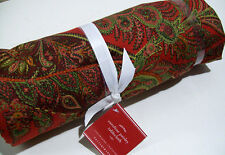 "Pottery Barn Caroline Paisley Cotton Linen Tablecloth 70"" X 108"" Table Cloth New"