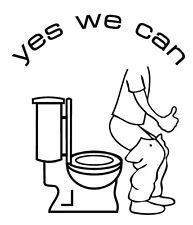 yes we can 9,5 x 8 cm nicht im stehen pinkeln Toilettendeckel Bad Fliesendekor