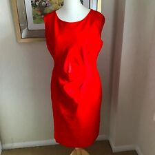 Debenhams Collection CORAL RED Dress Size 14 Wedding Races Cruise Smart Casual