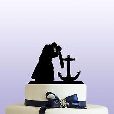 Anchor Bride & Groom Acrylic Wedding Cake Topper Decoration & Keepsake