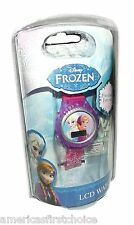 "Disney Kid's ""Frozen"" Anna and Elsa Digital Display Watch With Pink Rub-New!"