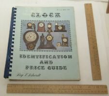 CLOCK IDENTIFICATION and PRICE GUIDE - Roy Ehrhardt - illustrated paperback BOOK