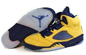 Mens Air Jordan 5 Retro SE CQ9541 704 Michigan Amarillo 2019 DS Sneakers Shoes