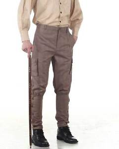 Steampunk Victorian Costume Airship Pants Trousers -Checkered C1348
