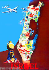 Israel Palestine The Bible by Clipper Vintage Travel Advertisement Art Poster