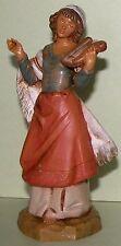 Fontanini Nativity figure,Chloe, hand harp, Christmas, Life of Christ, 5 in. NIB