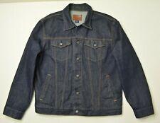 Gap 1969 Size XL Mens Blue Jean DARK Wash 100% Stiff Cotton Denim TRUCKER Jacket