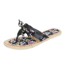 Normale-Weite-(F) Damen-Sandalen & -Badeschuhe mit Blockabsatz aus Kunstleder für Kleiner Absatz (Kleiner als 3 cm)