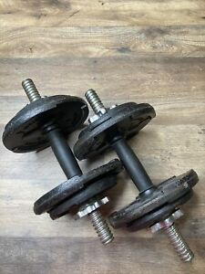 Weider 40lb Adjustable Cast Iron Dumbbell Set   Exercise Weights