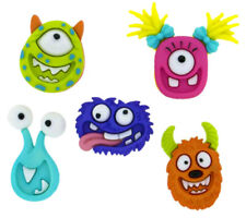 Childrens Buttons - Mad For Monsters - Novelty Buttons Cake Decorations