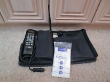 VINTAGE MOTOROLA BAG PHONE WITH ANTENNA, CASE, AND INSTRUCTION MANUAL CELLULINK
