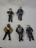 Star Trek Playmates Action Figure Lot Klingon Worf Lotucus Of Borg Dixon Hill