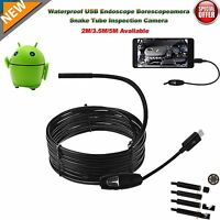 3.5M 5M Android PC Endoscope Waterproof Inspection Camera Micro USB Video Camera