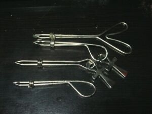 1970's CIGARETTE HOLDER ROACH CLIP VINTAGE COLLECTIBLE AMERICAN MADE Set of 4