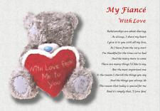 FIANCE GIFT ( laminated gift) personalised poem HUSBAND TO BE
