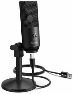 Fifine Podcast Microphone USB with Headphone Monitoring 3.5mm Jack and...