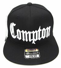 COMPTON Snapback Hat South Central Los Angeles City Cap Black OSFM NWT 86e7cef9d70