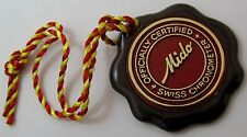 Nos. vintage Swiss Mido chronometer !!! watch seal in brown plastic ...