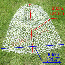 "Large Clear Rubber Fishing Mesh Replacement Landing Net Circumference 63"" White"