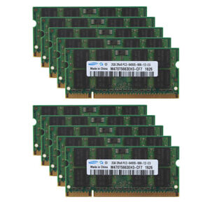 Lot 2G For Samsung 2GB 2Rx8 PC2-6400 DDR2 800Mhz 200pin SODIMM Laptop Memory RAM