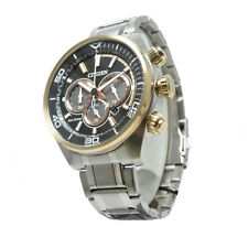 Citizen Silver Mens Analog Casual Eco-Drive Chronograph CA4336-85E