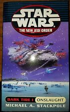 Star Wars New Jedi Order Dark Tide I Onslaught first edition paperback