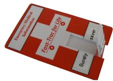 Credit Card CC, Medical Alert ID -Fast Trac 2GB USB (Electronic Health Records)