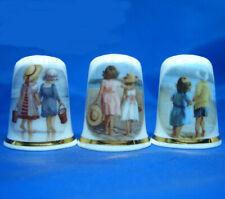Birchcroft Thimbles -- Set of Three -- Seaside Children