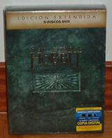EL HOBBIT LA DESOLACION DE SMAUG EDICION EXTENDIDA 5 DVD NUEVO PRECINTADO ACCION
