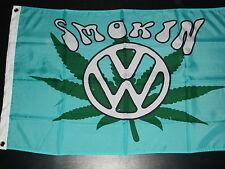 VW SMOKIN 5' X 3' FLAG VANFEST PLYMFEST JAMBOREE BUG JAM