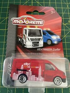 Majorette City Volkswagen Crafter Van Bus Tour Diecast 1:64 Scale New Sealed