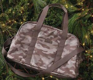 VS PINK Duffle Travel Weekender Gym Bag Bora Brown Camo-Brand New